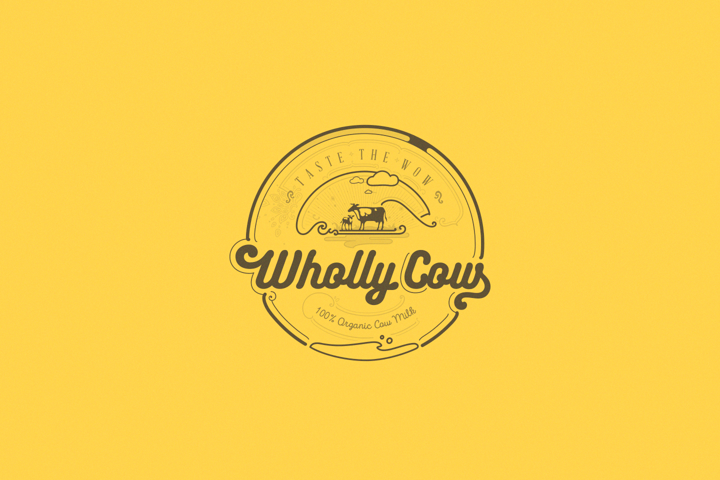 whollycow logo yellow